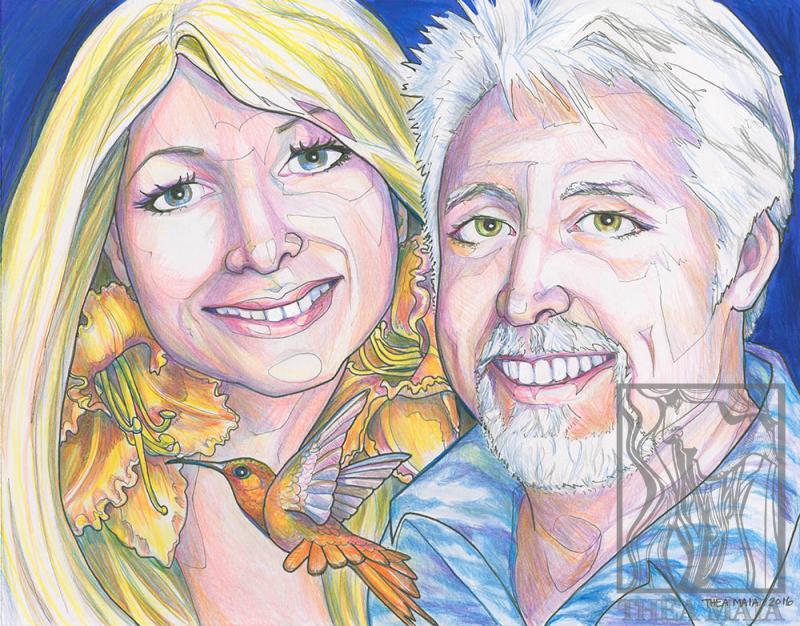 Double portrait artwork